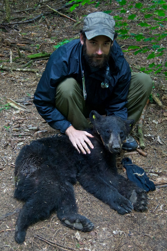 Andrew with on a black bear survey