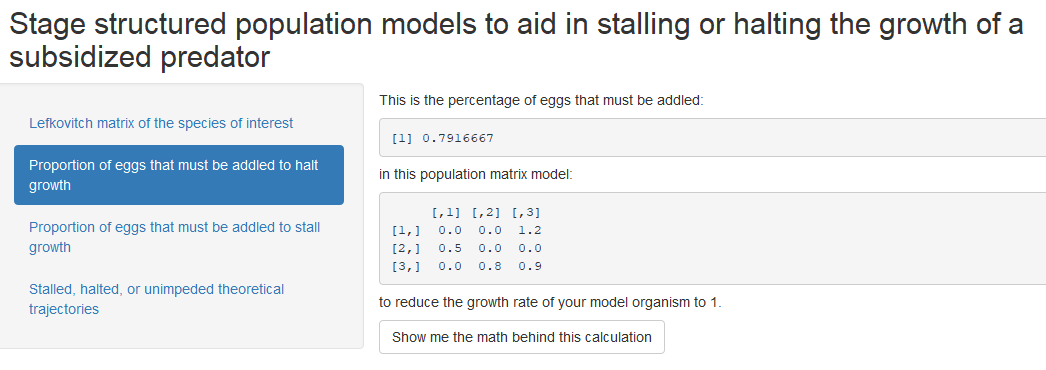 Image of screen shot of stage structured population model_proportion of eggs