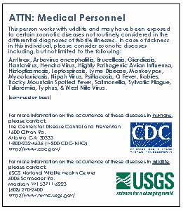 USGS CDC Medical alert wallet card image