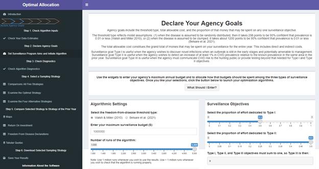 SOP4CWD sample optimization app screenshot