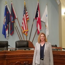 Dr Schuler in the the Hearing room in DC